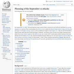 Planning of the September 11 attacks - Wikipedia