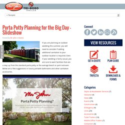 Porta Potty Planning for the Big Day - Slideshow
