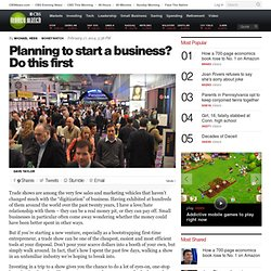 Planning to start a business? Do this first
