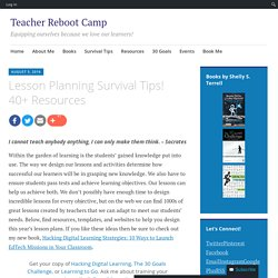 Lesson Planning Survival Tips! 40+ Resources