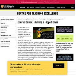Course design: planning a flipped class