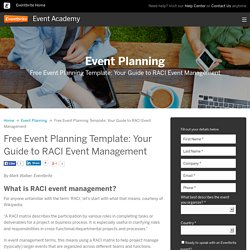 Free Event Planning Template: RACI Event Management