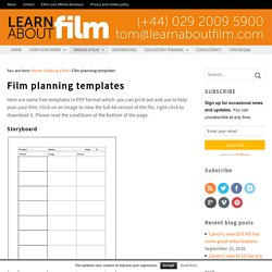 Film planning templates - Learn about film