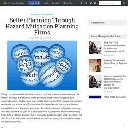 Better Planning Through Hazard Mitigation Planning Firms