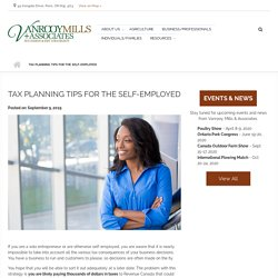 Tax Planning Tips for the Self-Employed at Vanrooy Mills