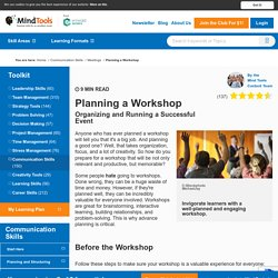 Planning and Running a Workshop - from MindTools.com