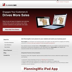 PlanningWiz Online Room Planner Software for Furniture Retailers and Manufacturers, Building Contractors, Realtors and more