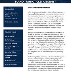Plano Traffic Ticket Attorney, Traffic Ticket Attorney Plano