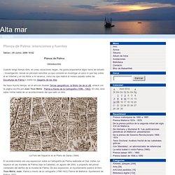 Planos de Palma: intenciones y fuentes
