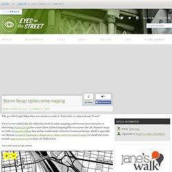 Stamen Design stylizes online mapping