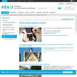 10 bons plans gratuits à Paris - Paris gratuit