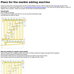 Plans for the marble adding machine