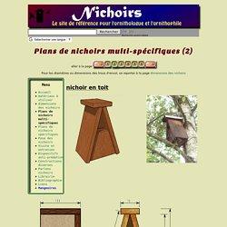 Plans de nichoirs multi-spécifiques (2)
