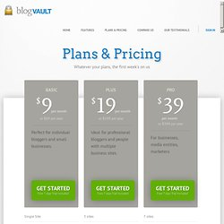 Plans & Pricing - Blogvault