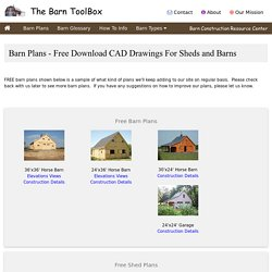 Free Barn Plans - Professional Blueprints For Horse Barns & Sheds