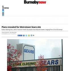 Plans revealed for Metrotown Sears site