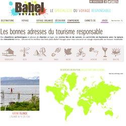 Bons plans du tourisme responsable