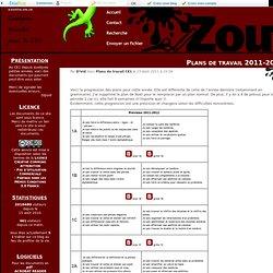 Plans de travail 2011-2012