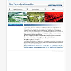 Plant Factory Development Inc.