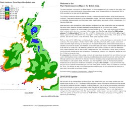 Plant Cold Hardiness Zone Map of the British Isles