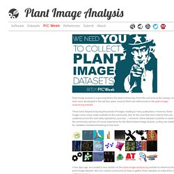 Plant Image Analysis - PIC Week