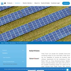 Plant Monitoring Systems: SCADA for Solar Power Plant Monitoring