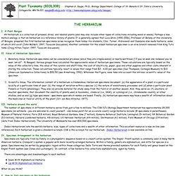 Herbarium Management