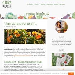 5 Flores para plantar na horta - Cultivos da Caseiro