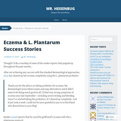 Eczema & L. Plantarum Success Stories