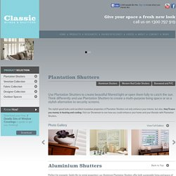 Buy Aluminium Plantation Shutters – Classic Blinds in New Castle