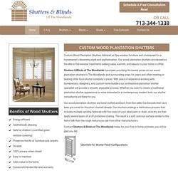 Get Affordable Wood Plantation Shutters in Houston