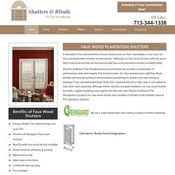 Get Economy Faux Plantation Shutters in The Woodlands