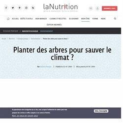 Planter des arbres pour sauver le climat