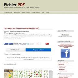 Petit Atlas Des Plantes Comestibles PDF (Petit Atlas Des Plantes Comestibles PDF.pdf)