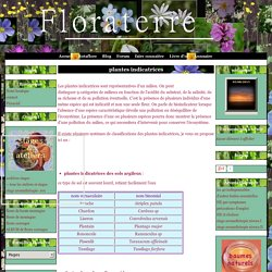plantes indicatrices - Floraterre