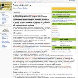 Plantes indicatrices - Les Mots de l'agronomie