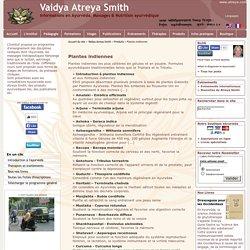 Plantes indiennes - Vaidya Atreya Smith