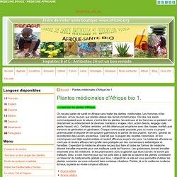 Plantes médicinales d'Afrique.
