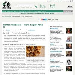 Plantes médicinales — Liane d'argent Partie II