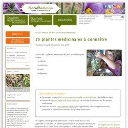 25 plantes médicinales à connaître