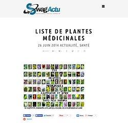 Liste de plantes médicinales