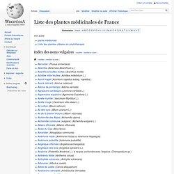 Liste des plantes médicinales de France