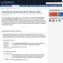Plantilla Calendario Gratis - Calendario Año 2015 para Imprimir