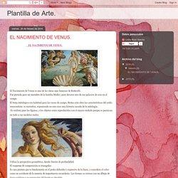 Plantilla de Arte.: EL NACIMIENTO DE VENUS.