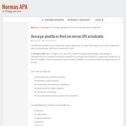 Plantilla en Word con normas APA actualizadas