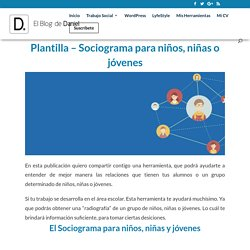 Plantilla - Sociograma para niños, niñas o jóvenes