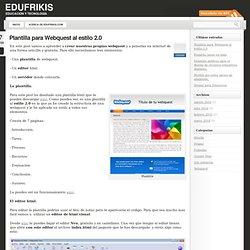 Plantilla para Webquest al estilo 2.0