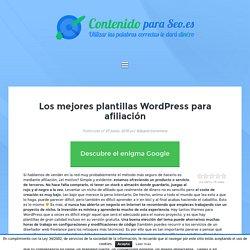 Los mejores plantillas WordPress para afiliación