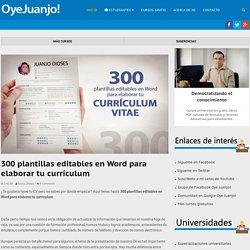 300 plantillas editables en Word para elaborar tu currículum