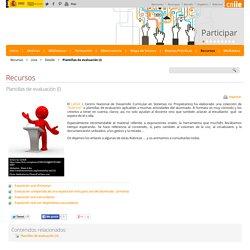 Plantillas de evaluación (I) - Detalle Recursos